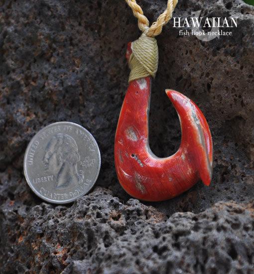 Kahili hawaiian fish hook necklace for Hawaiian fish hook