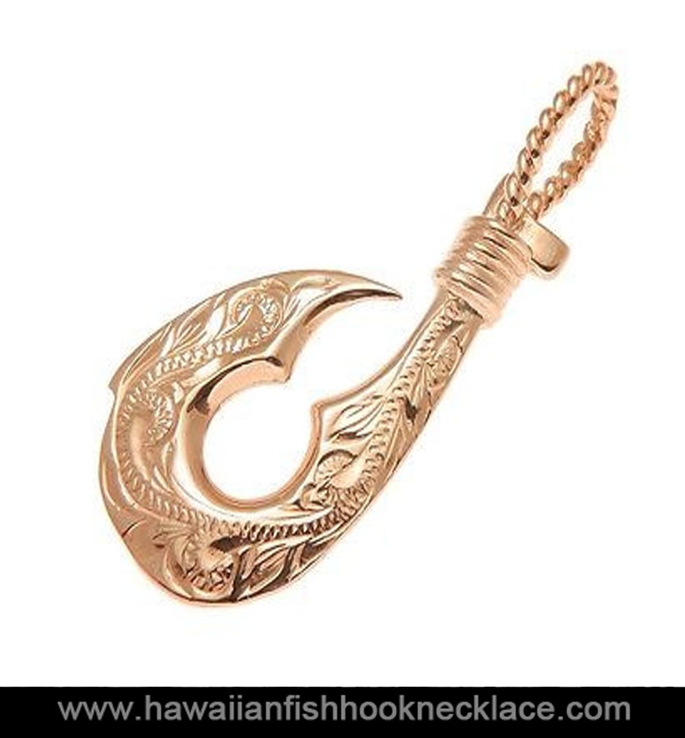 14K Gold Hawaiian Hook Necklace   Hawaiian Fish Hook Necklace
